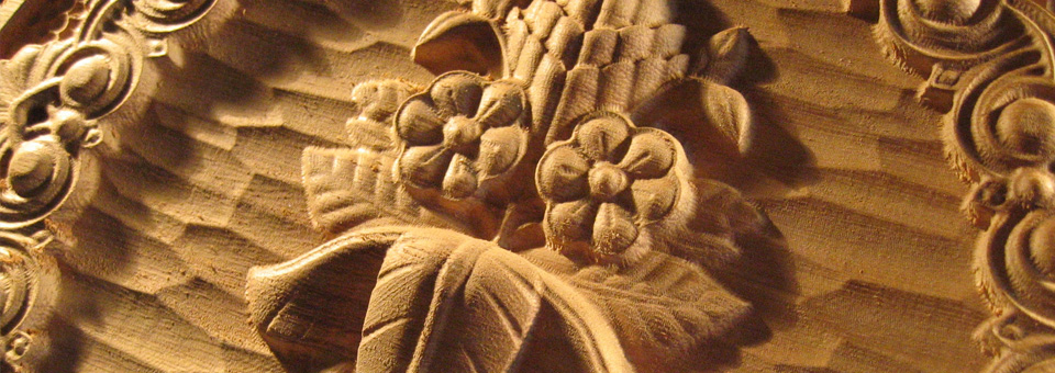 Detail řezby